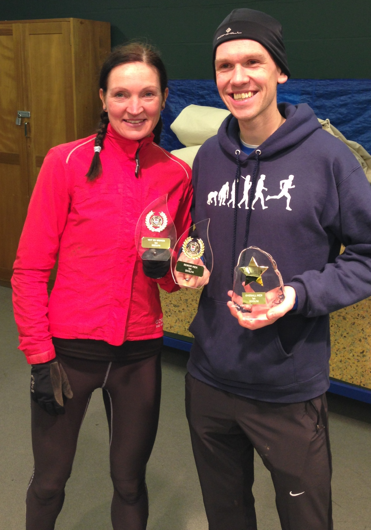 Wendy Nicholls and Dave Bell of Cirencester Athletics Club who both performed well in their races last week