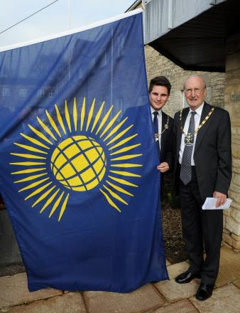 Cirencester mayor and Cotswold District Council chairman mark Commonwealth Day with flag-raising ceremony