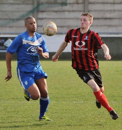 Ellis Dunton, right, came closest for Cirencester