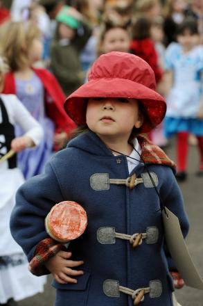 Pupils at Cirencester Primary School dress as their favourite story characters for World Book Day