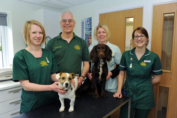 The team at Sidings Veterinary Surgery in Cirencester