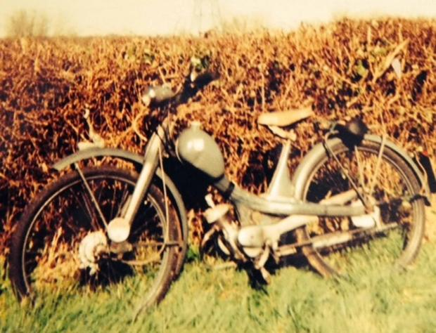 The 1962 NSU Quickly moped stolen in a burglary on March 13