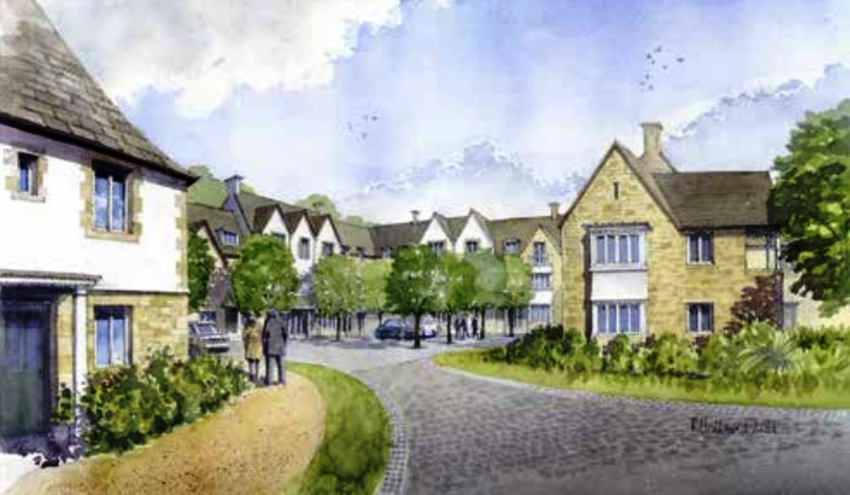 Artist impression of the retirement village square
