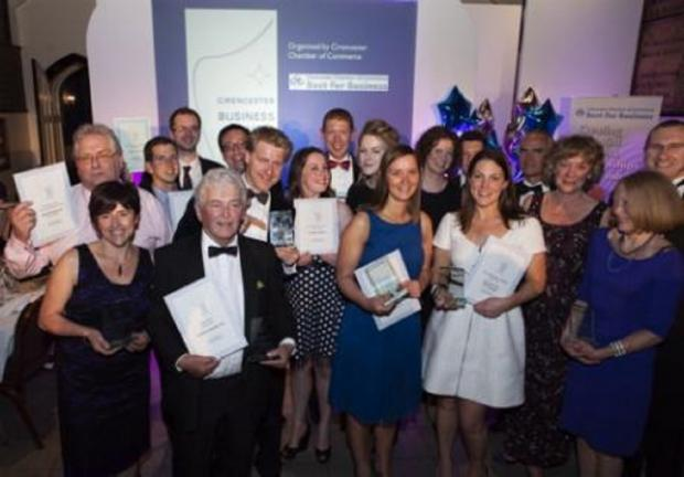 Last year's award winners at the Cirencester Chamber of Commerce Business Awards