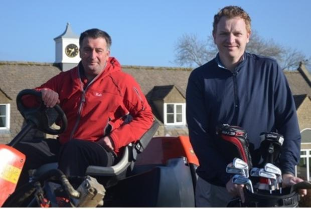 Nick Ellis, right, of Naunton Downs Golf Club