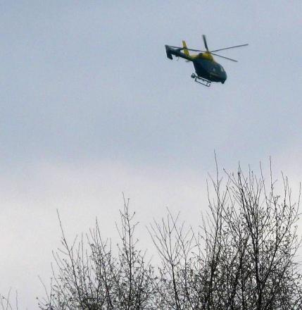 Mystery surrounding police helicopter hovering over Cirencester is solved