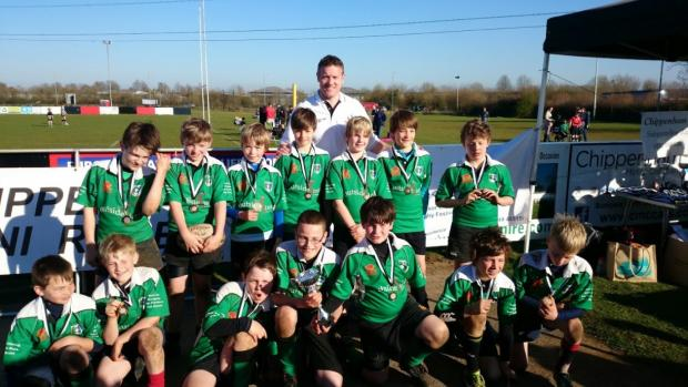 Fairford's successful U11s rugby side at the Chippenham Festival