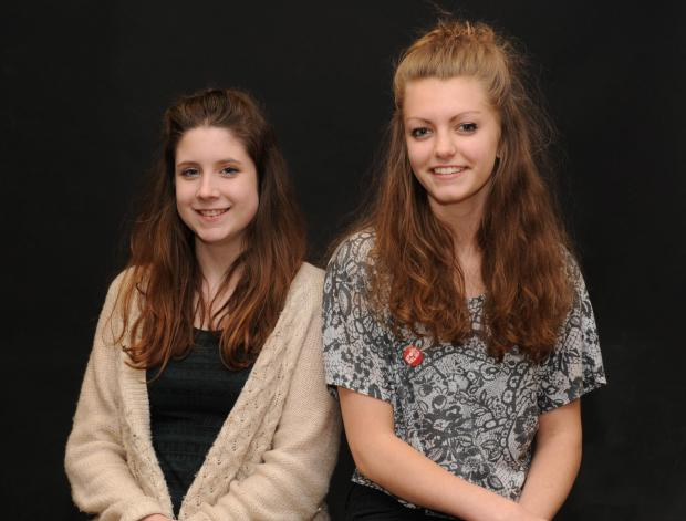 Malmesbury School students Rhiannon Cole and Samantha Dunne, who recently went on a visit to Auschwitz