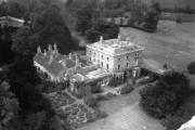 Abbey House taken from the Parish Church in 1961 by Mrs Alwyn Watts of Pheasant Way, Cirencester. It wsa demolished in 1964.