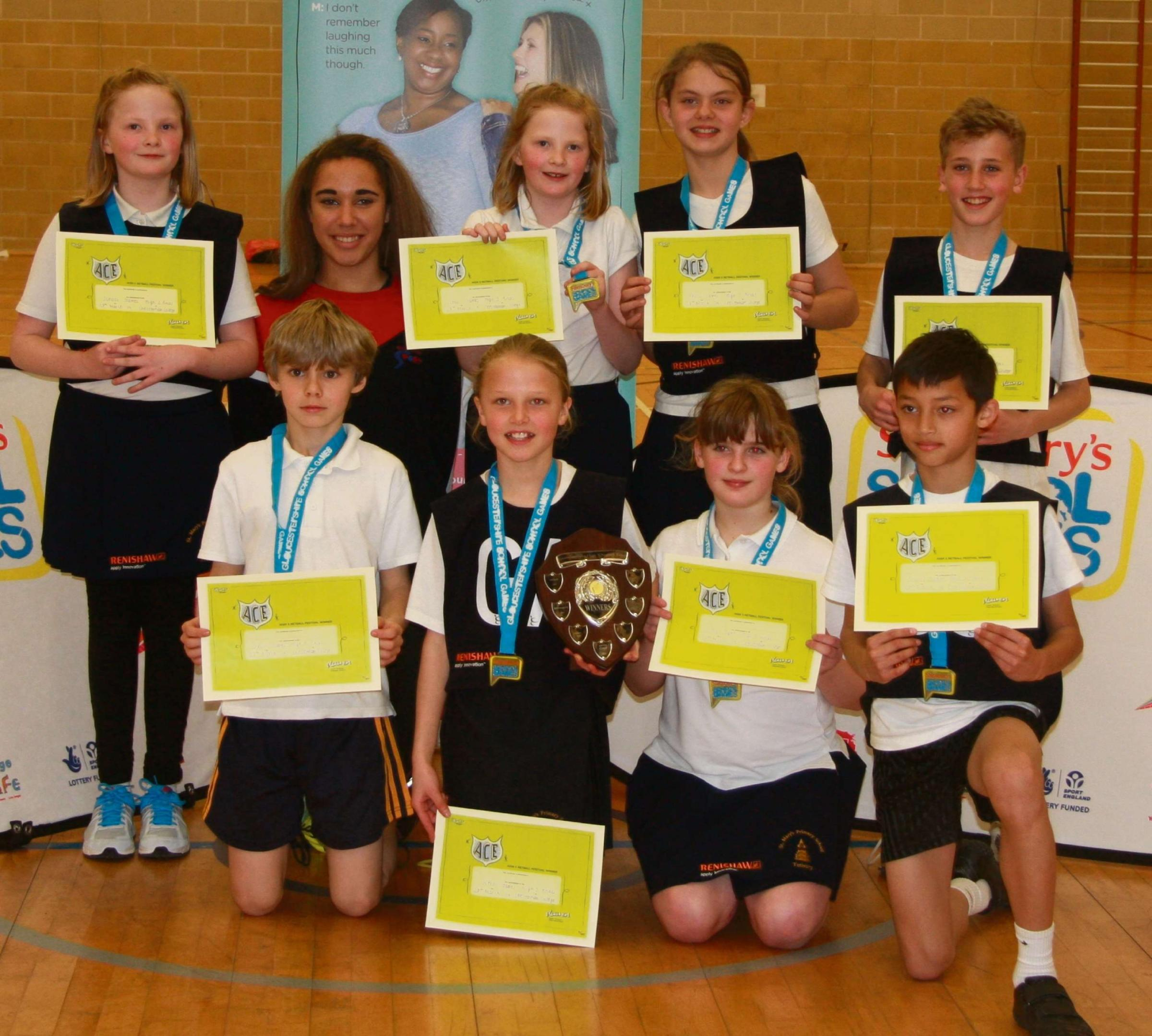 St Mary's School of Tetbury – county netball champions