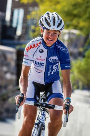 Sharon Laws from Bourton who now rides for the US-based United Healthcare pro cycling team