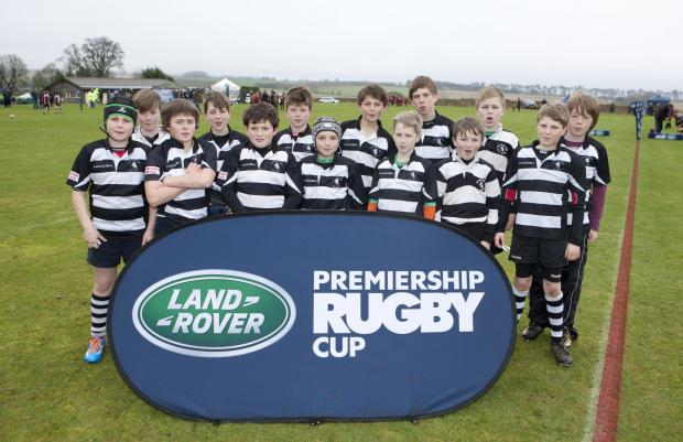 Stow on the Wold RFC U11s at the Gloucester Rugby round of the Land Rover Premiership Rugby Cup at Rendcomb College. Picture: onEdition