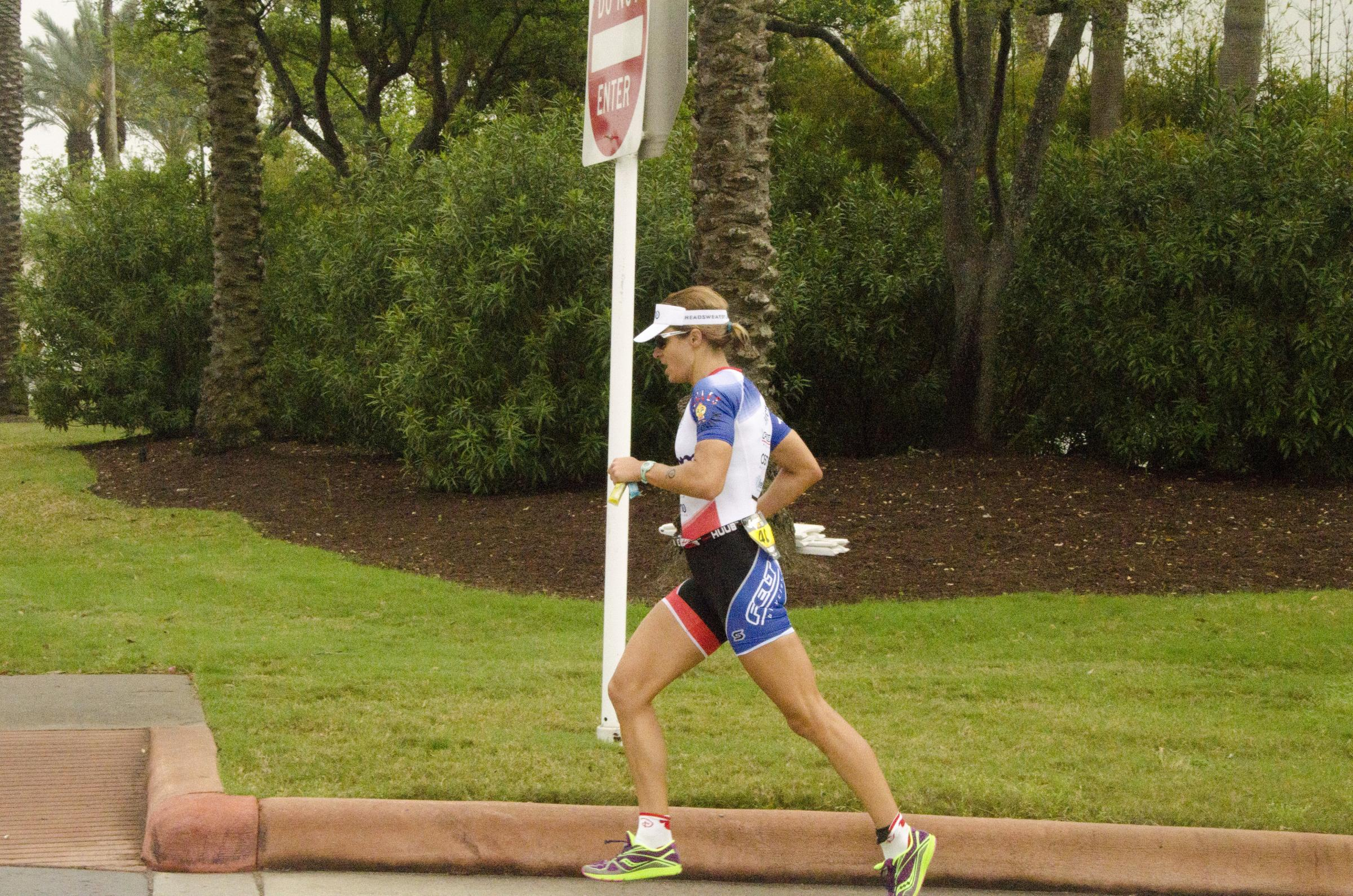 Emma-Kate Lidbury taking part in the Ironman 70.3 in Galveston, Texas
