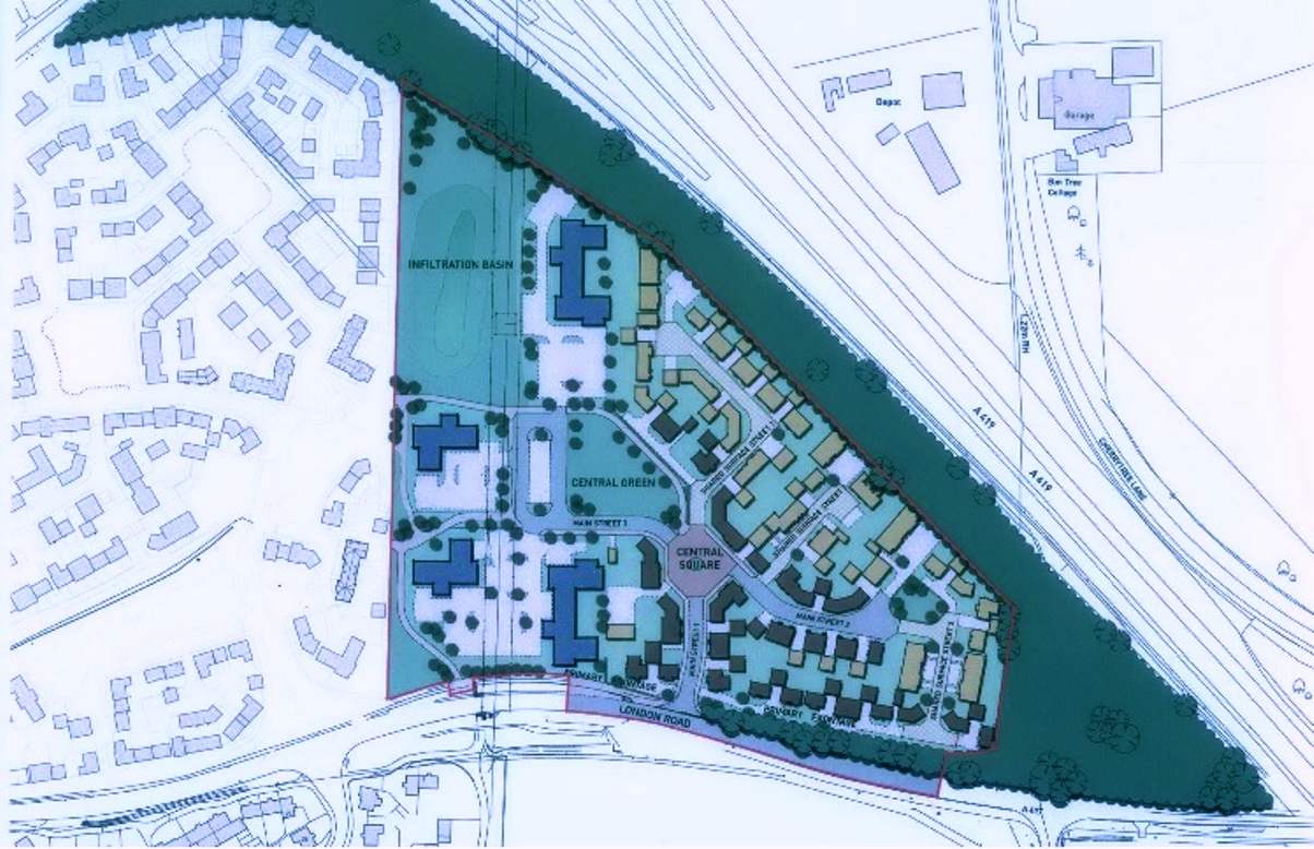 Drawing of the proposed new estate at Kingshill