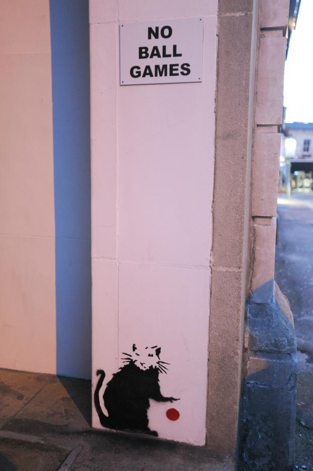 Wilts and Gloucestershire Standard: Is this a Banksy? Picture: Tom Wren