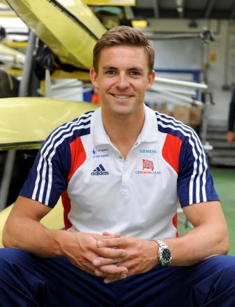 Olympic rowing champion Pete Reed
