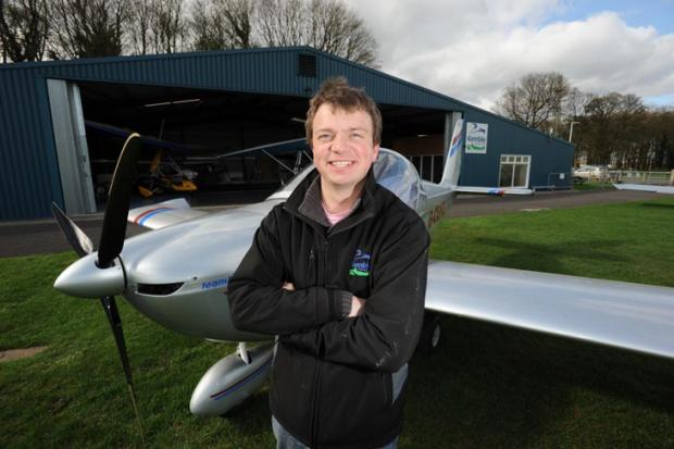 Tom Hay has become the youngest microlight flying instructor in the UK