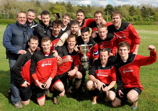 Wilts and Gloucestershire Standard: The victorious Kingshill Sports team celebrate winning the Cirencester League (5694271)