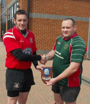 Owen Richardson of Royal Wootton Bassett Vets, left, and his brother Mark, who played for Mold RFC