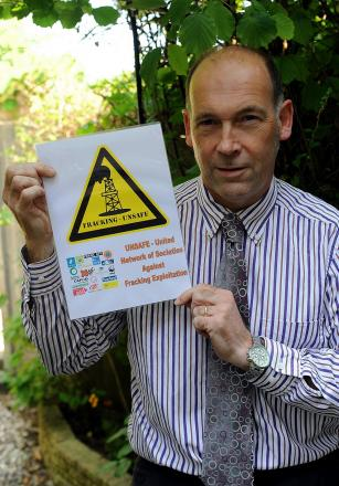 Chairman of Frack Free Cotswolds Dr Jonathan Whittaker