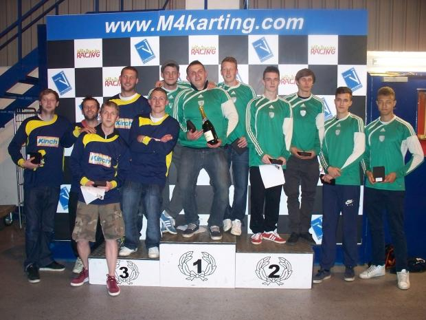 Oaksey FC dominate the podium at the end of the M4 Karting Cirencester & District League challenge