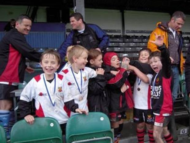 The successful Cirencester RFC minis at the Bath Rugby Festival