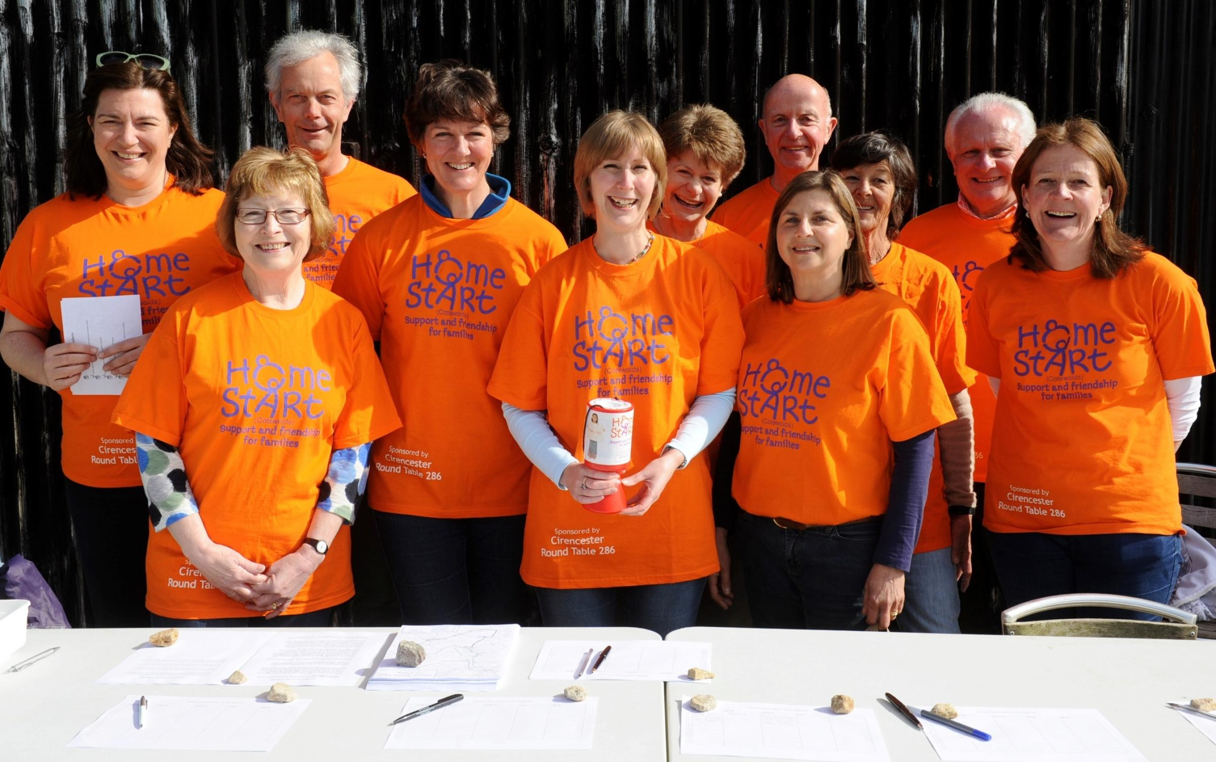 Supporters raise £4,000 for Home Start Cotswolds