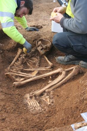 Iron Age skeletons found on nature reserve near Bourton