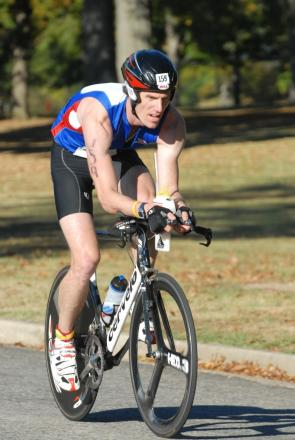 Lee Piercy was back competing at the Corinium Club's Time Trial