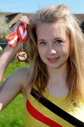 Hannah Tapley, 15, from Lechlade, who has become the England Indoor under-17 Women's High Jump Champion 2014 (6392901)