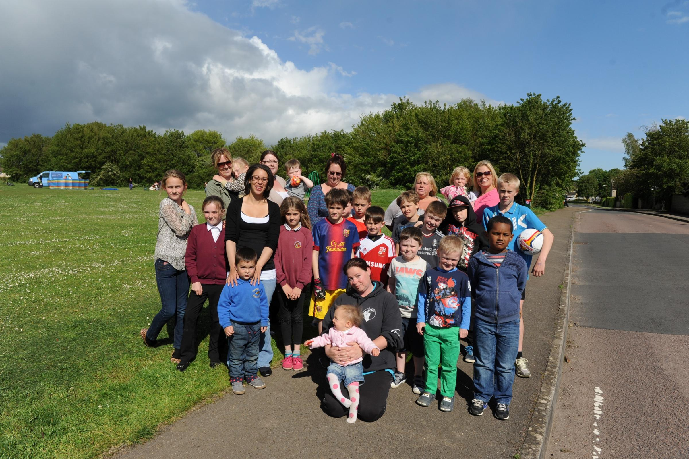 Concerned Chesterton parents are campaigning for a fence to be built around a popular play area