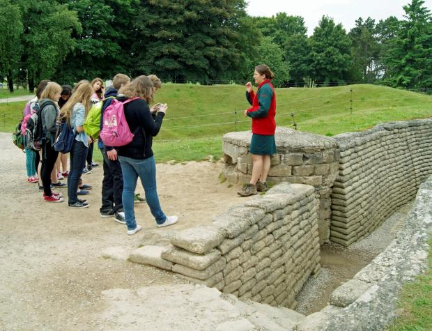 Pupils from the school on a battlefields trip last year (6472696)