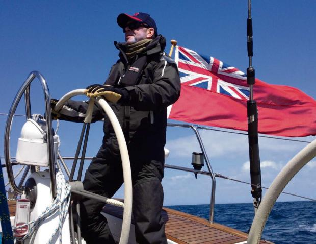 John Stoker, from Bourton-on-the-Hill, at the helm of Sidney II