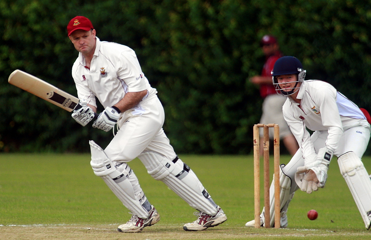 Batsman Gareth Williams who made a battling half-century to no avail for Cirencester firsts against top-of-the-table Cheltenha