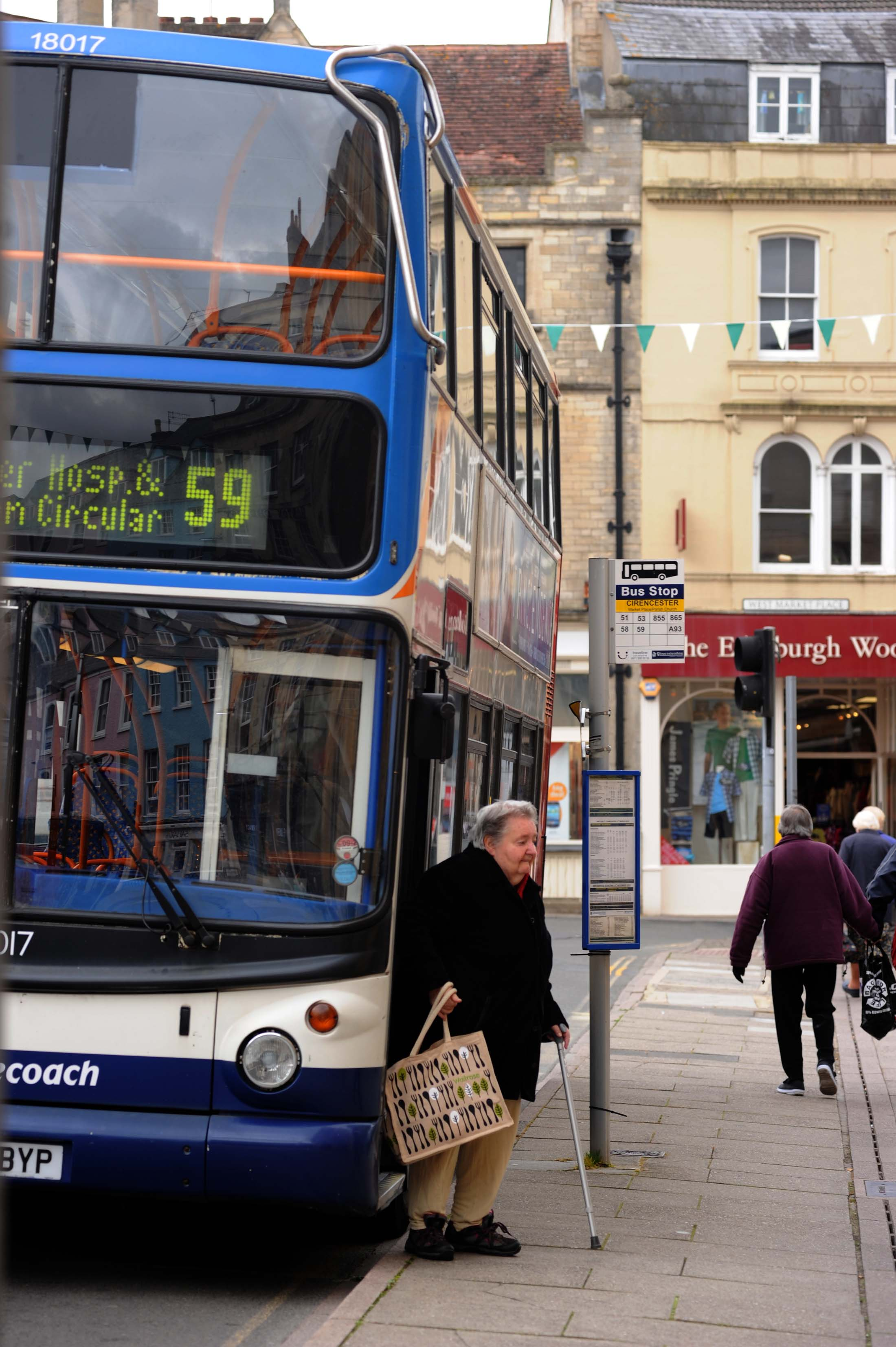 Cirencester bus cuts causing a panic