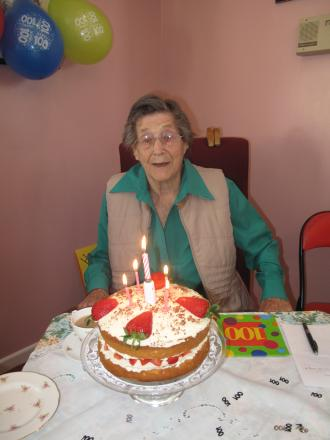 Janet Hobbs recently celebrated her 100th birthday - Photo by Chris Roberts