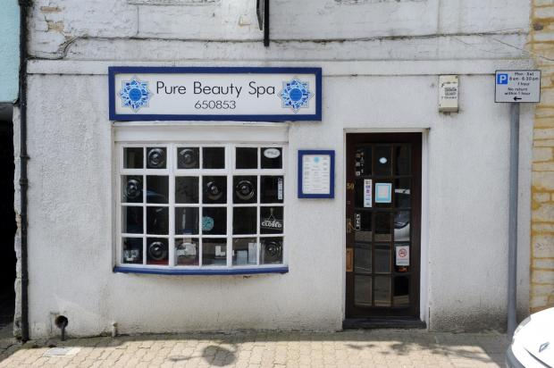 The closed Pure Beauty Spa in Crickilade Street, Cirencester (6952315)
