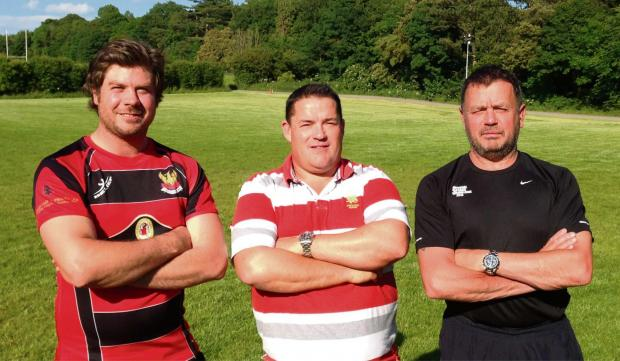 Cirencester RFC's new management team (l-r): Adam Seager (assistant coach), Tim Thompson (CRFC chairman), Kevin Powderly (head coach)  (7153128)