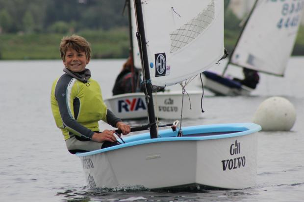 Ollie Croft from St Mawes in Cornwall who attended the Optimist camp at Bowmoor Sailing Club. Picture: Dominic Cotterill (EvenStream Media)