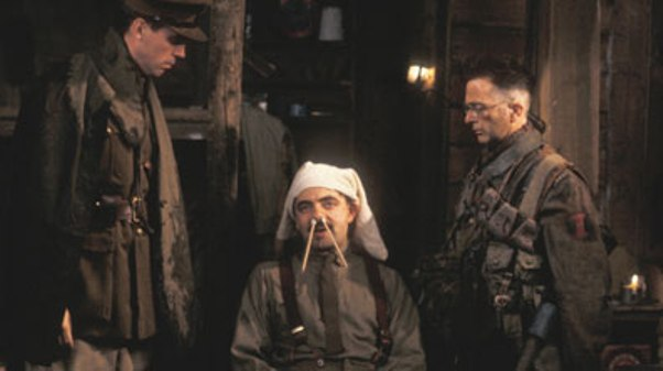 Blackadder, Baldrick and Darling DID fight in the trenches