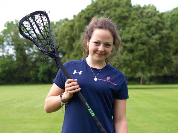 Emily Brookes, of Westonbirt School, who will play for the England U19 lacrosse team on their tour to America