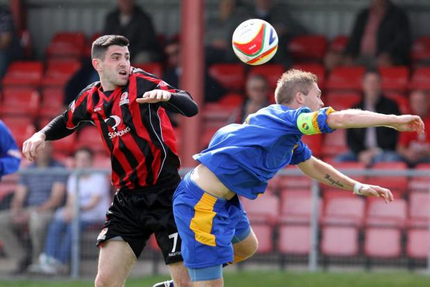 Jamie Reid, left, is back with Cirencester Town
