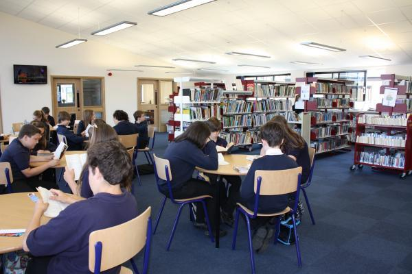 The new library at Kingshill school