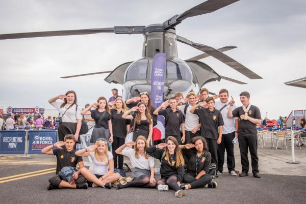 Engineering pupils aim high at air tattoo