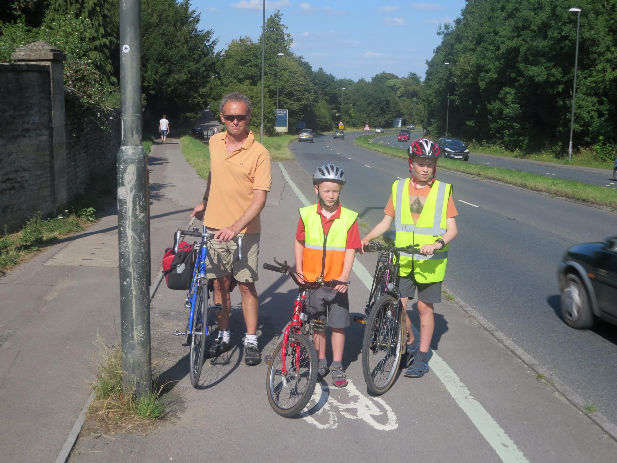 Stratton father highlights cycling safety concerns