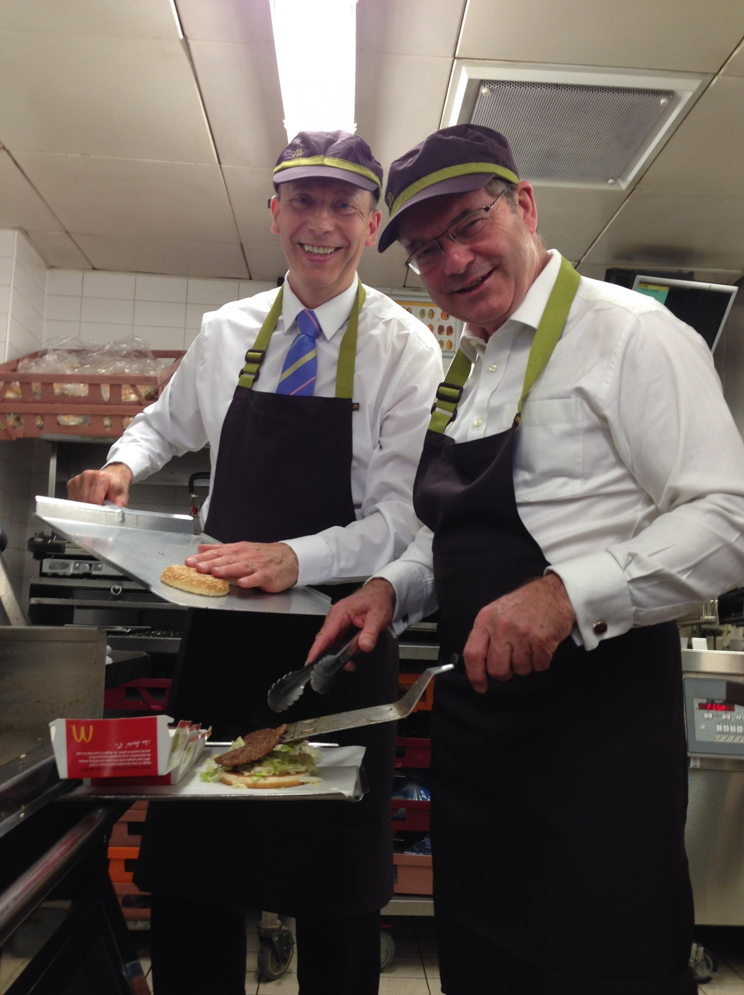 Cotswolds MP flips burgers at Cirencester McDonald's