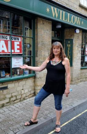 Lizzi Ussher outside Willow in Cricklade Street, Cirencester