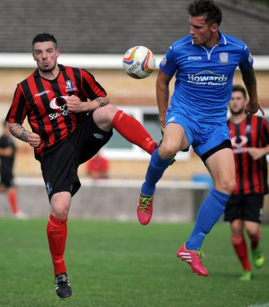 Liam O'Brien of the Cirencester Town FC Development team who was unlucky not to score (8677530)