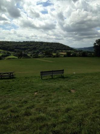 Sheepscombe's very scenic ground on Saturday for the visit of Cirencester seconds (9142963)