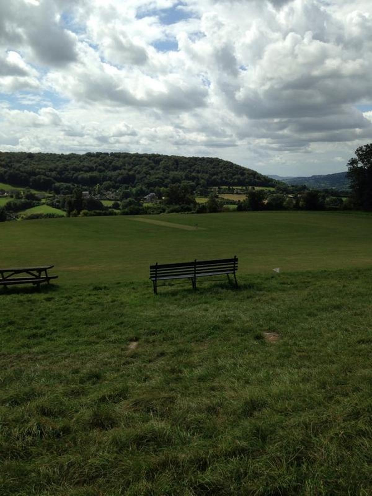 Sheepscombe's very scenic ground on Saturday for the visit of Cirencester secon
